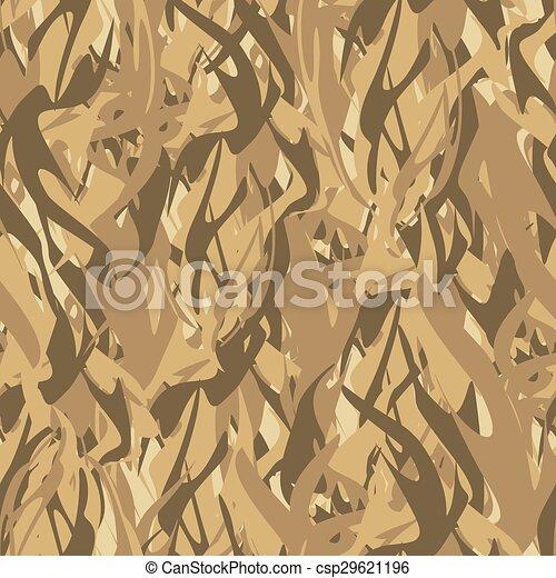 fire., vektor, hadi, struktúra, álcáz, motívum, elvont, hadsereg, pattern., flames., seamless, katona, vadász, oltalmazó - csp29621196