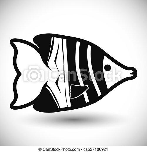 fish, design. - csp27186921