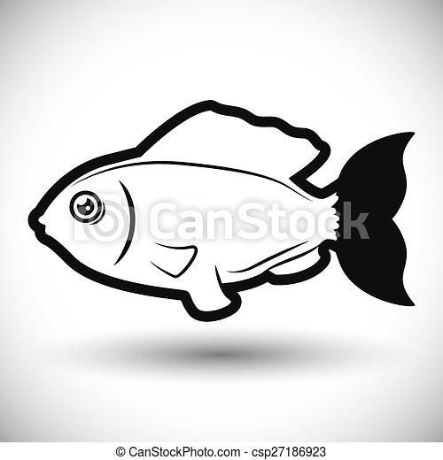 fish, design. - csp27186923