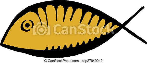 fish, jelkép, icthus - csp27849042