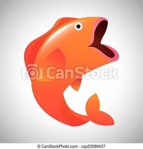 fish, tervezés - csp23589437