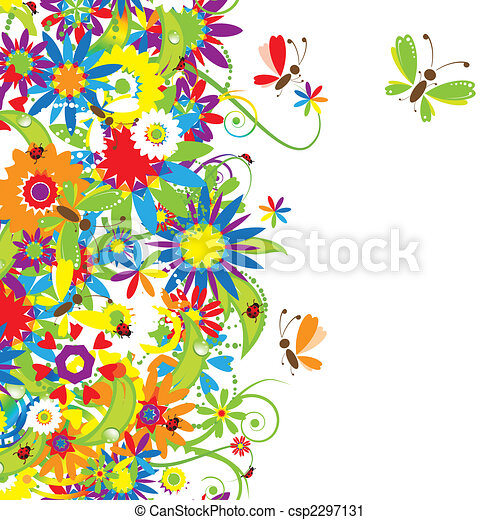 floral bouquet, ábra, nyár - csp2297131
