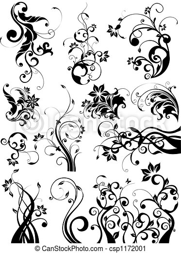 floral elem, tervezés - csp1172001