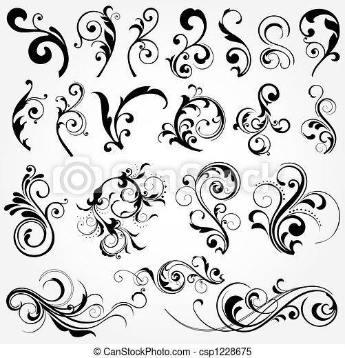 floral elem, tervezés - csp1228675