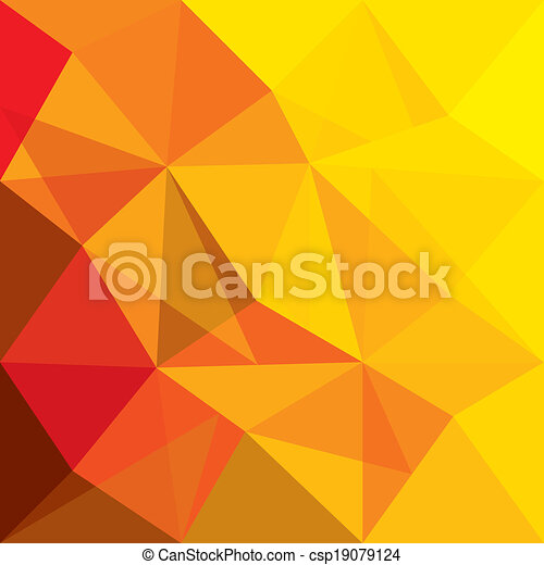 fogalom, alakzat, narancs, vektor, háttér, geometriai, piros - csp19079124