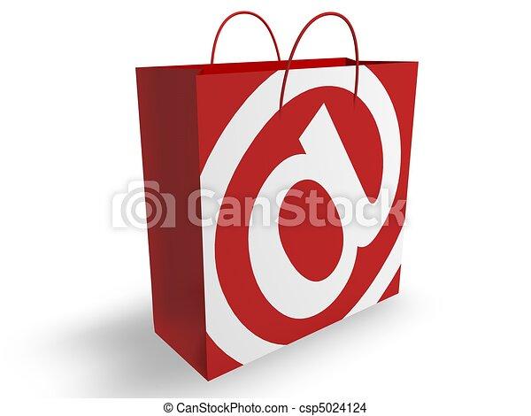 fogalom, e-commerce - csp5024124