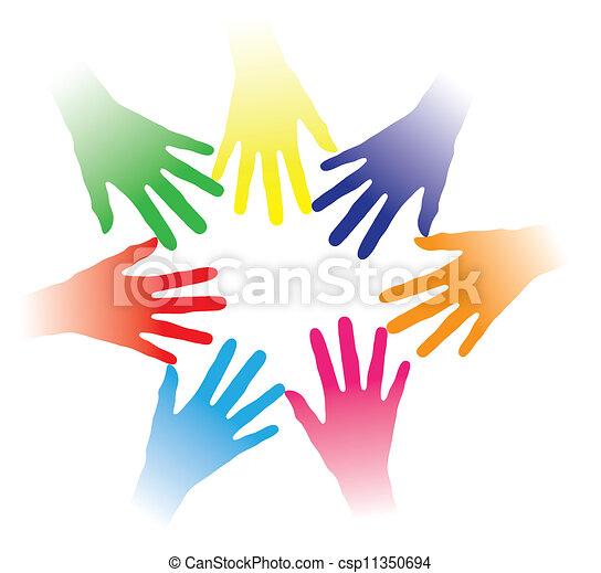 fogalom, emberek, más, közösség, tartott, kötés, társas viszony, csoport, networking, javalló, színes, befog, ábra, ételadag kezezés, emberek, együtt, sok nemzetiségű, mindegyik, lélek, etc., társadalmi - csp11350694