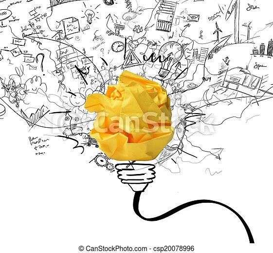 fogalom, gondolat, újítás - csp20078996