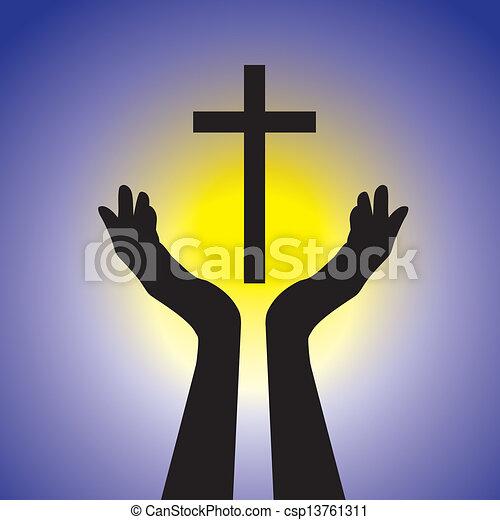 fogalom, graphic., sárga, jézus, kék, krisztus, nap, birtok, lord, méltóság, keresztény, jámbor, kiállítás, ábra, cross-, buzgó, háttér, hűséges, bizalom, ez, személy, vektor - csp13761311