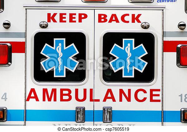 fogalom, szükséghelyzet, mentőautó - csp7605519
