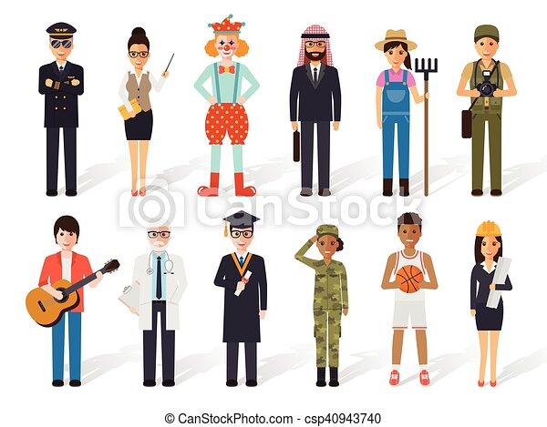 foglalkozás, emberek, szellemi foglalkozás - csp40943740
