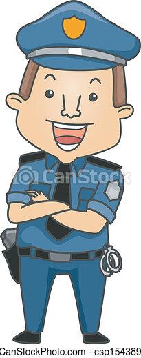 foglalkozás, rendőr - csp15438909