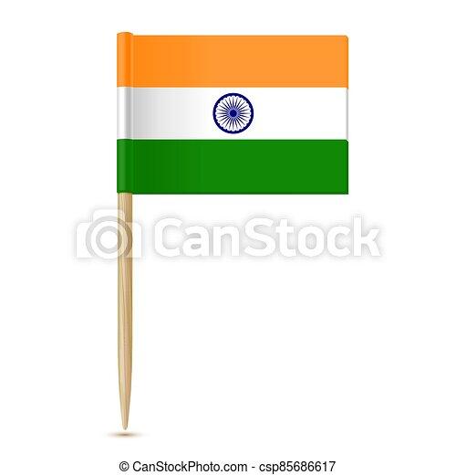 fogpiszkáló, lobogó, india - csp85686617