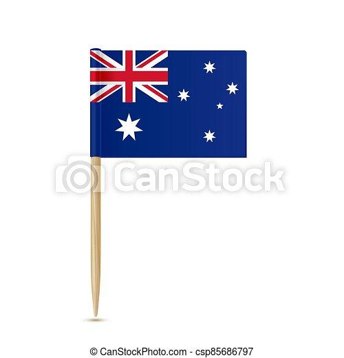fogpiszkáló, white háttér, australia lobogó - csp85686797