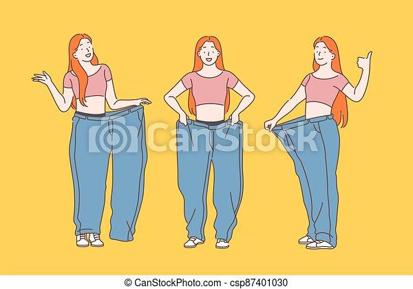 fogyaszt, diéta, súly, concept., kár - csp87401030