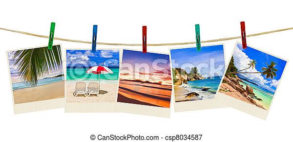 fotográfia, tengerpart szünidő, ruhaszárító csipeszek - csp8034587
