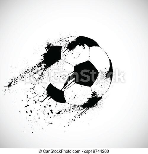 futball, grunge, labda - csp19744280