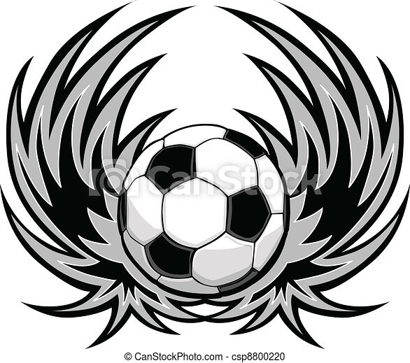 futball, kasfogó, sablon - csp8800220