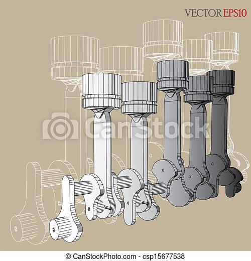 gép, skicc, vektor - csp15677538