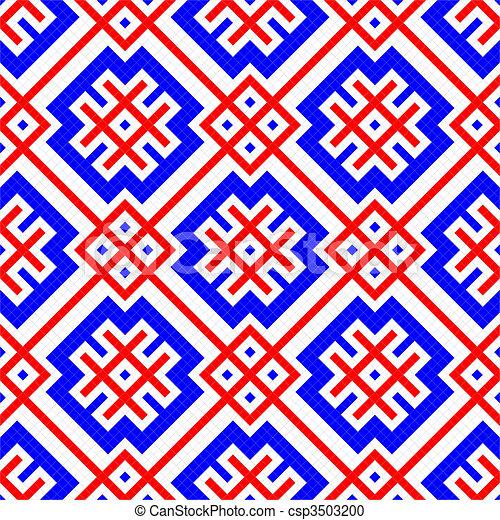 geometriai, díszítés, seamless - csp3503200