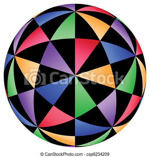 geometriai, illusions, háttér - csp6234209