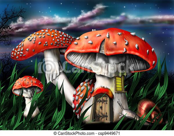 gombák, varázslatos - csp9449671