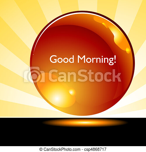 gombol, jó, napkelte, háttér, reggel - csp4868717