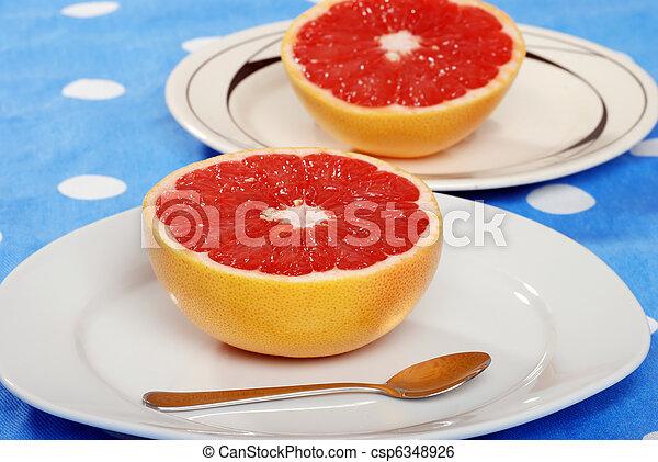 grapefruit, tányér - csp6348926