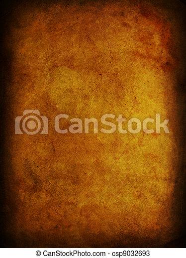 grunge, dolgozat, öreg, ősi, foltos - csp9032693