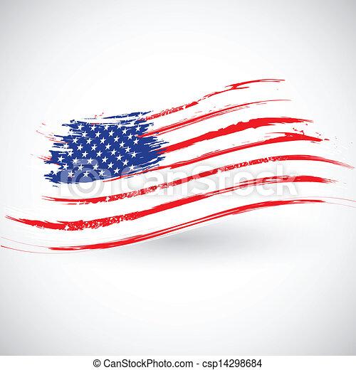 grungy, american lobogó, háttér - csp14298684