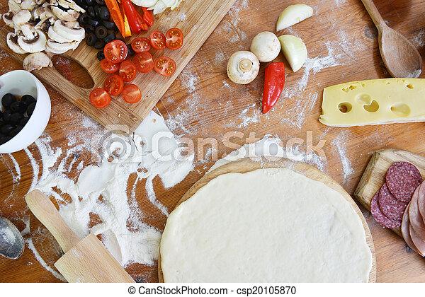 guba, finom, pizza - csp20105870