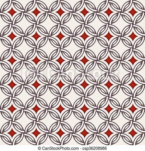 gyémánt, -, motívum, csillaggal díszít, karikák, retro, megvonalaz - csp36208986