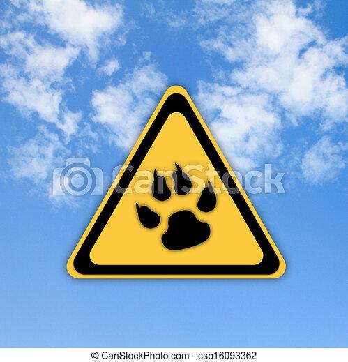 gyönyörű, ég, aláír, háttér., állat, lábnyom, út - csp16093362