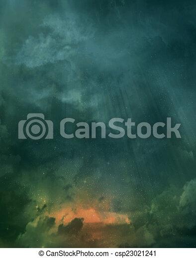 gyönyörű, ég, háttér - csp23021241
