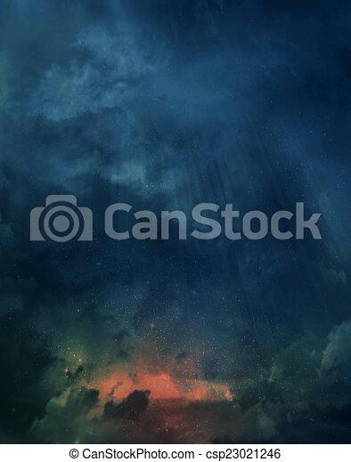 gyönyörű, ég, háttér - csp23021246