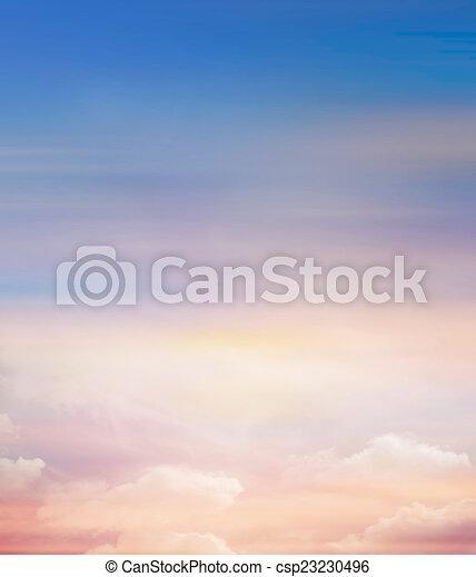 gyönyörű, ég, háttér - csp23230496