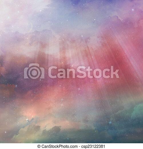 gyönyörű, ég, háttér - csp23122381