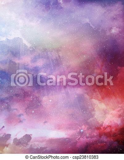 gyönyörű, ég, háttér - csp23810383