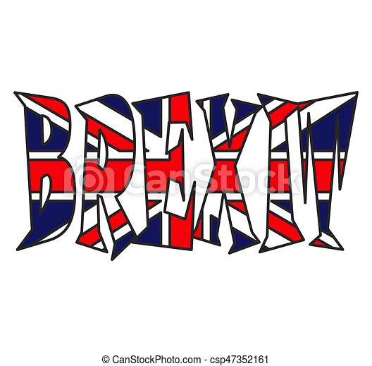 gyönyörű, brexit, uk, szöveg, jelkép, elszigetelt, ábra, lobogó, vektor, háttér, fehér, ikon, design. - csp47352161