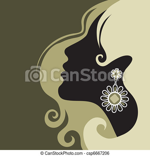 gyönyörű, haj, leány - csp6667206