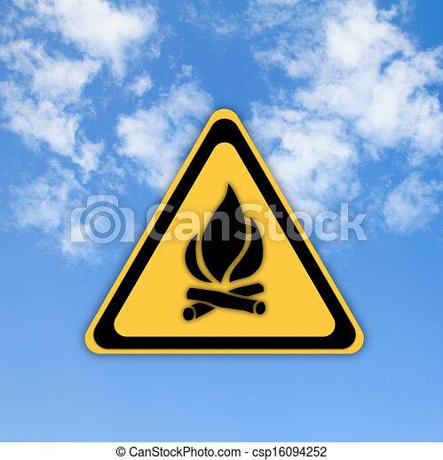 gyönyörű, veszély, elbocsát, ég, aláír, háttér., sima - csp16094252