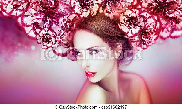 gyönyörű woman, artwork - csp31662497