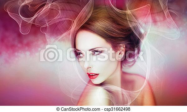 gyönyörű woman, artwork - csp31662498