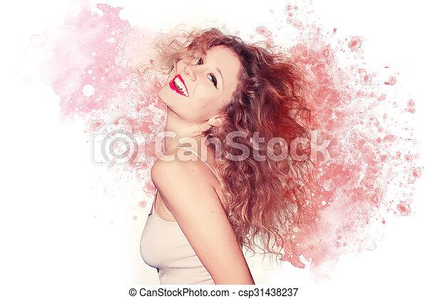 gyönyörű woman, artwork - csp31438237