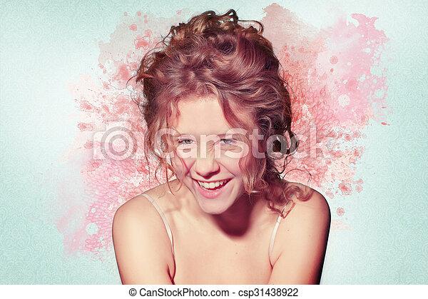 gyönyörű woman, artwork - csp31438922