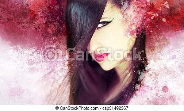 gyönyörű woman, artwork - csp31492367