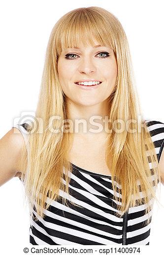 gyönyörű woman, fiatal - csp11400974