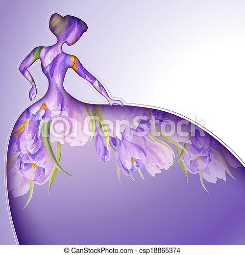 gyönyörű woman, menstruáció, fiatal - csp18865374