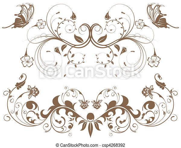 gyűjt, virág, határ - csp4268392