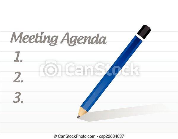 gyűlés, tervezés, napirend, ábra - csp22884037